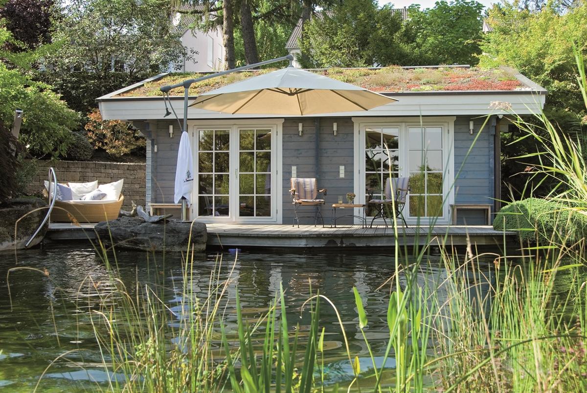 Finnische sauna im garten